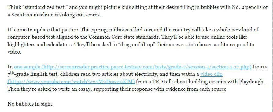 An Example of the Critical Thinking Envisioned by Common Core ...