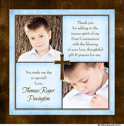 Thank You Card: Popular Gallery Communion Thank You Cards First ...