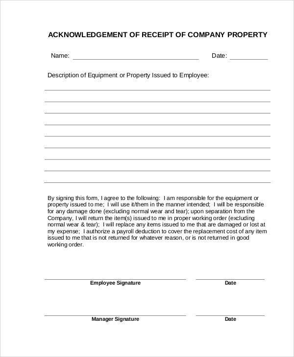 7+ Company Receipt Templates - Word, PDF | Free & Premium Templates