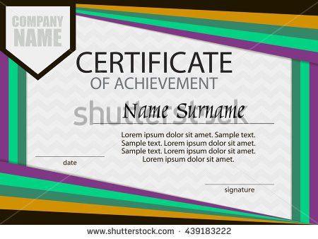 Certificate Of Achievement Template [Nfgaccountability.com ]