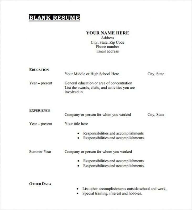 Resume Templates Pdf – Resume Examples