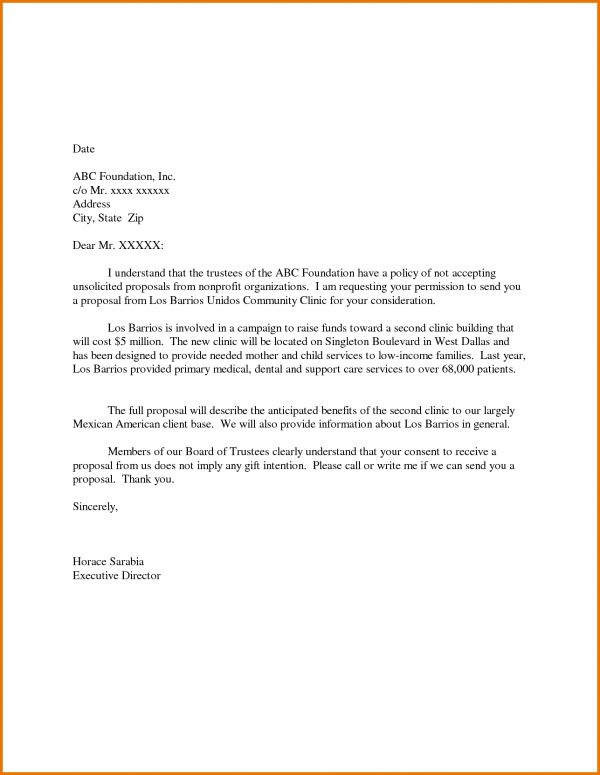 proposal format word unsolicited cover letter sample download ...