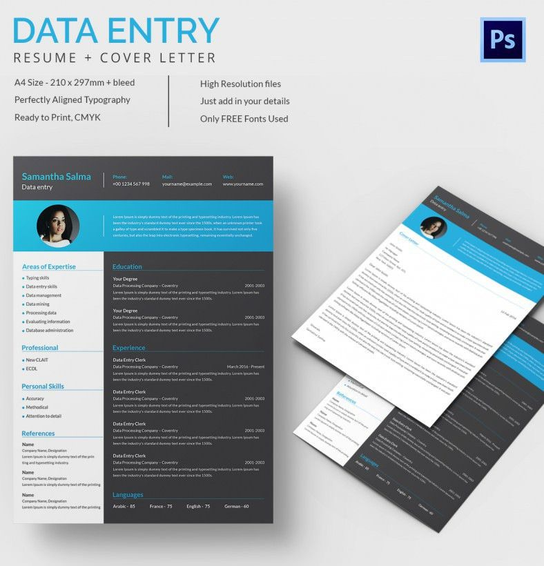 Data Entry Resume Template – 9+ Free Word, Excel, PDF Format ...