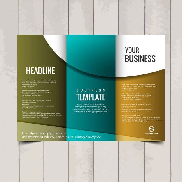 Tri Fold Brochure Templates. Corporate Tri Fold Brochure Template ...