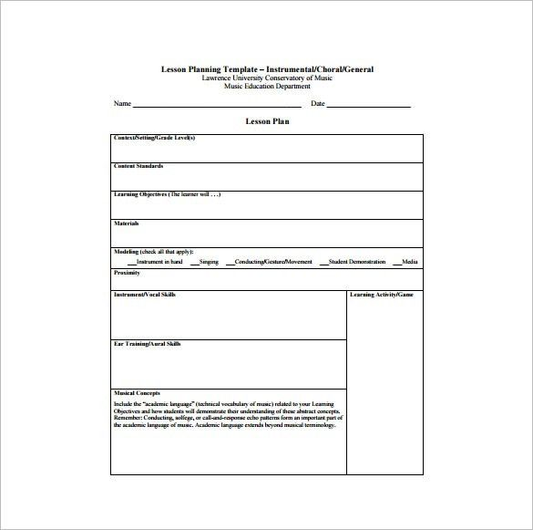 Lesson Plan Outline. Daily Lesson Plan Template # 1 | Www ...