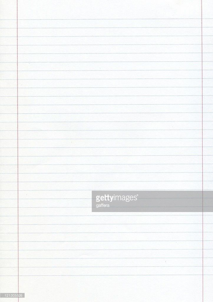 Blank Piece Of Lined Paper With Red Margins Stock Photo | Getty Images