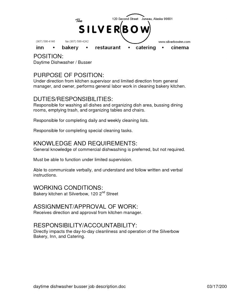 description of waitress for resume sample cv for waitresses