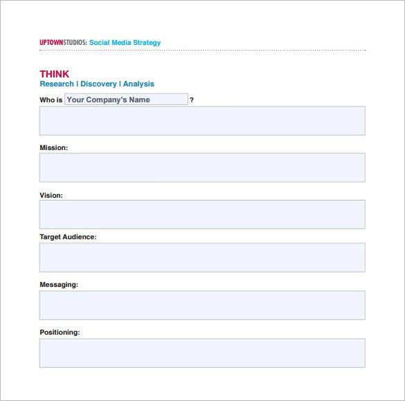 9+ Social Media Marketing Plan Templates – Free Sample, Example ...