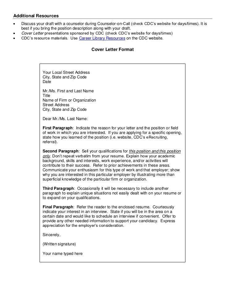 draft cover letter