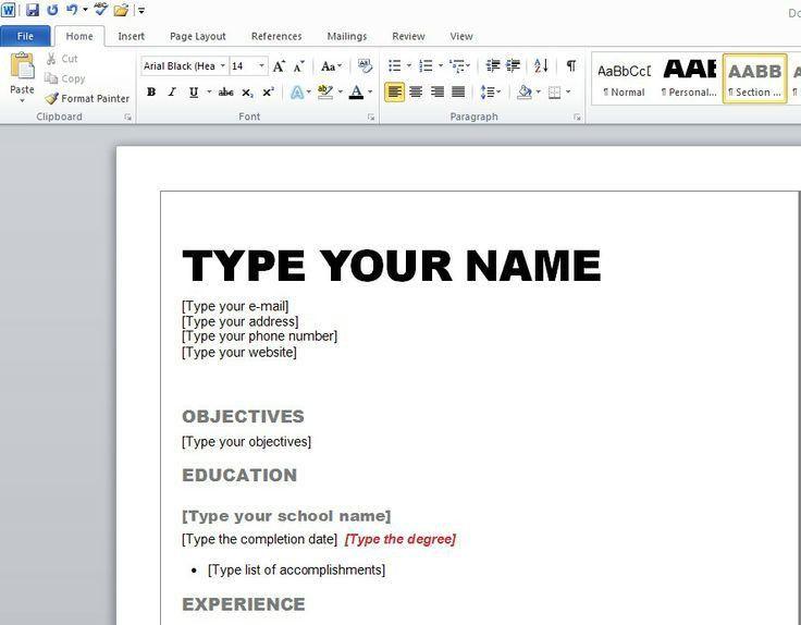 Word 2007 Resume Template 20 6 Free Resume Templates Microsoft ...