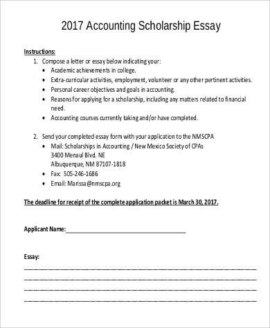 Scholarship Essay Example. Example Of Scholarship Essay Cover ...