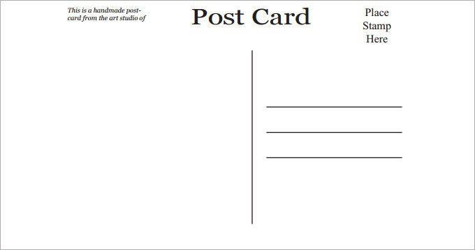 Postcard Template Free Printable [Template.billybullock.us ]