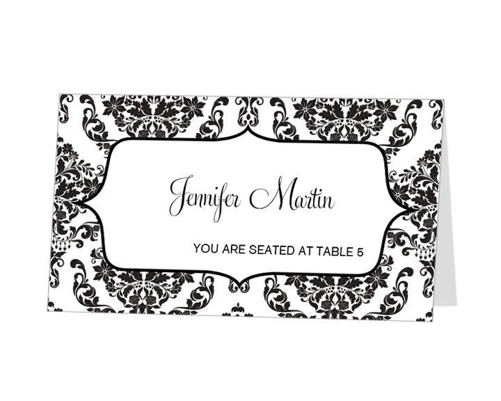 wedding name cards template