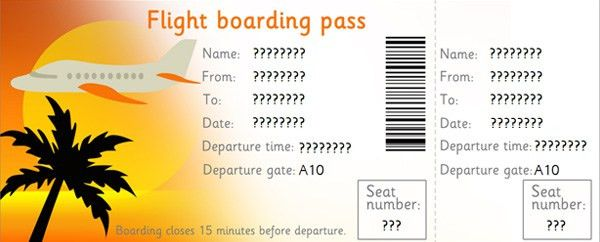 "Editable Airline Tickets. I made this into an ""El Al"" ticket for ..."