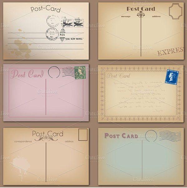 35+ Best Vintage Postcard Design Templates for Inspirations | Free ...