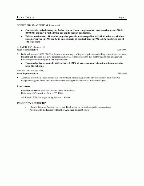 sample resumes medical sales resume - Sample Resume For Medical Representative