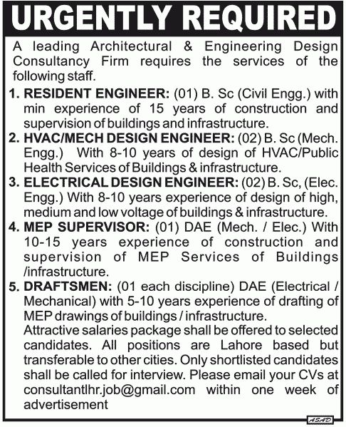 Jobs in Architectural & Engineering Design Consultancy in Pakistan ...