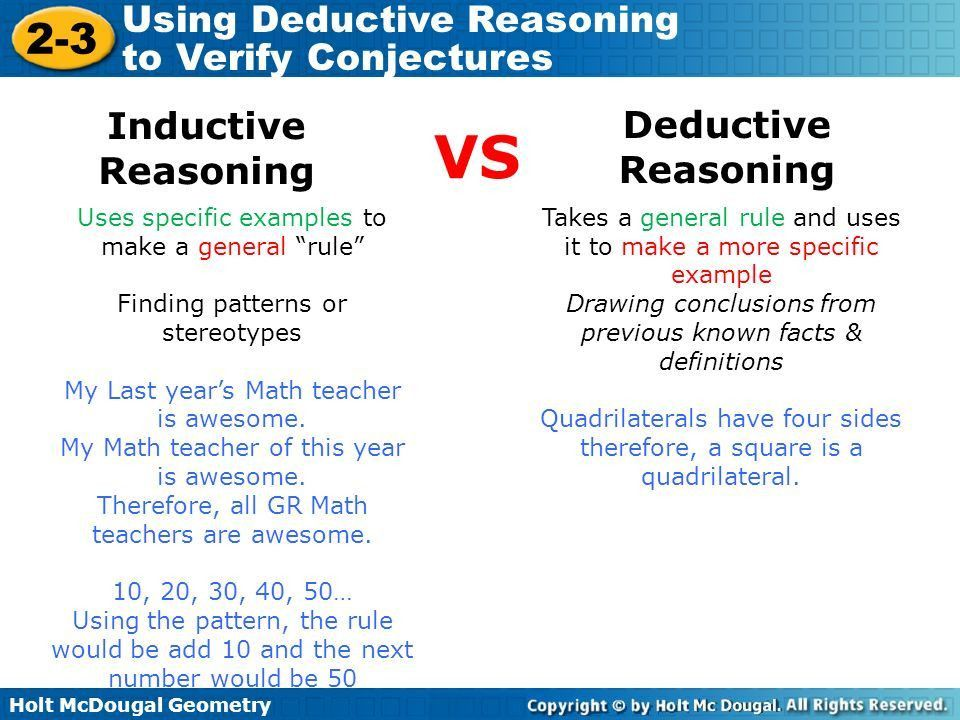 Objective Understand the difference between inductive and ...