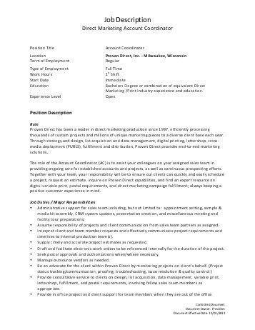 job description for project coordinator project coordinator job