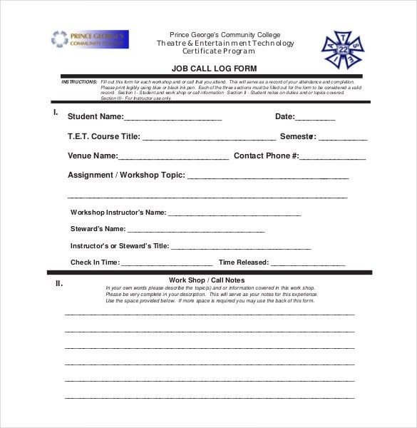 Call Report Template - 6 Free Excel, Word, PDF Documents Download ...