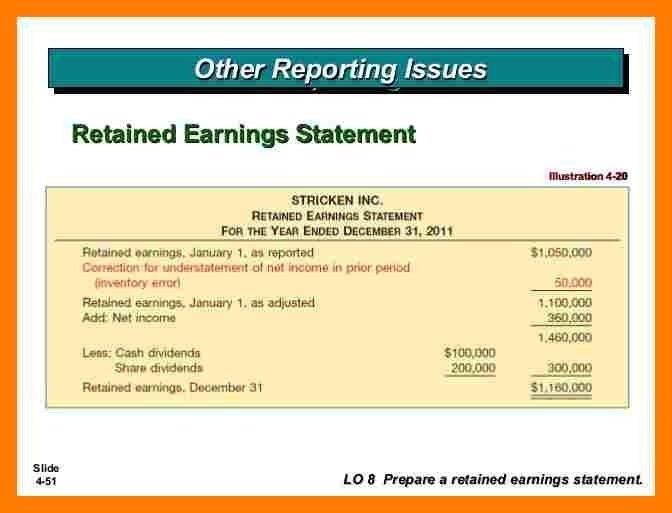 8+ retained earnings statement | teller resume
