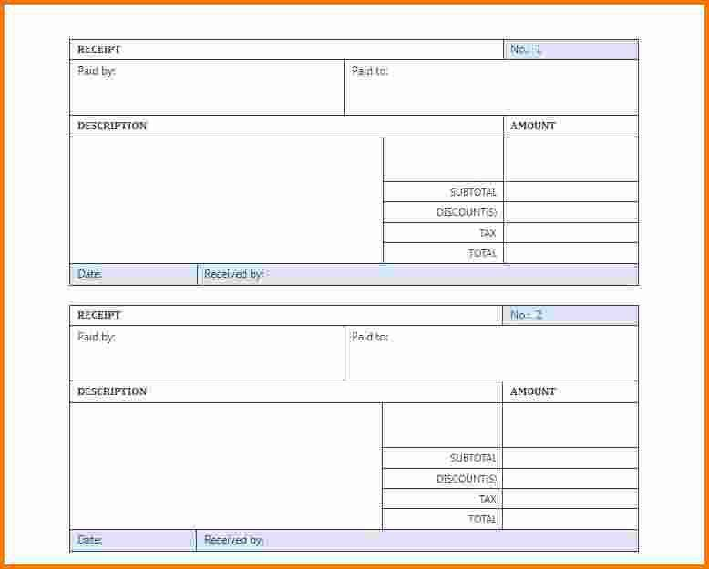 7+ blank receipt template | Expense Report