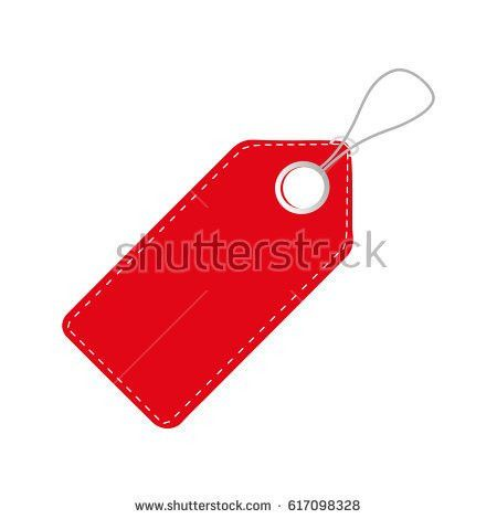 Realistic Discount Red Tag Sale Promotion Stock Vector 572495251 ...