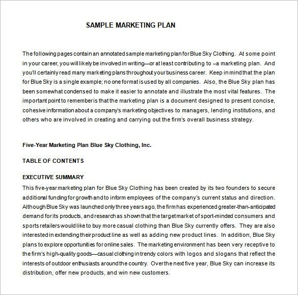 Marketing Proposal Template – 14+ Free Word, Excel, PDF Format ...