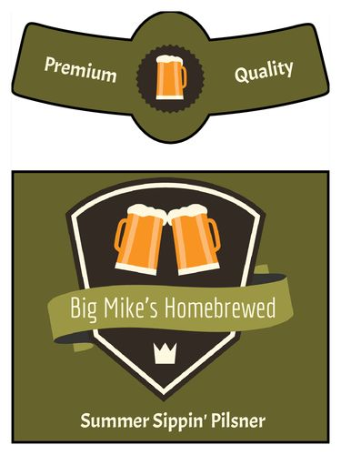 Beer Bottle Label Templates - Download Beer Bottle Label Designs