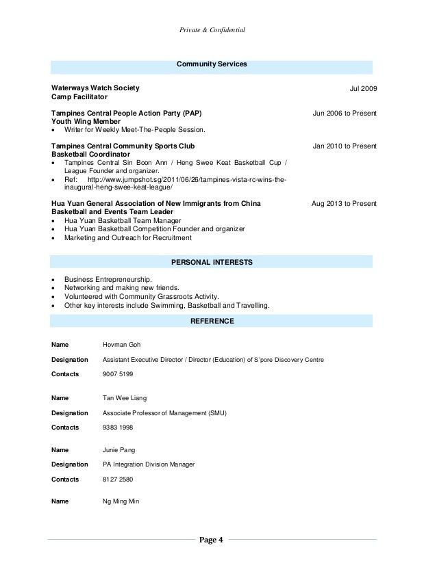 Resume -- Kelvin Ng Kay Hiong