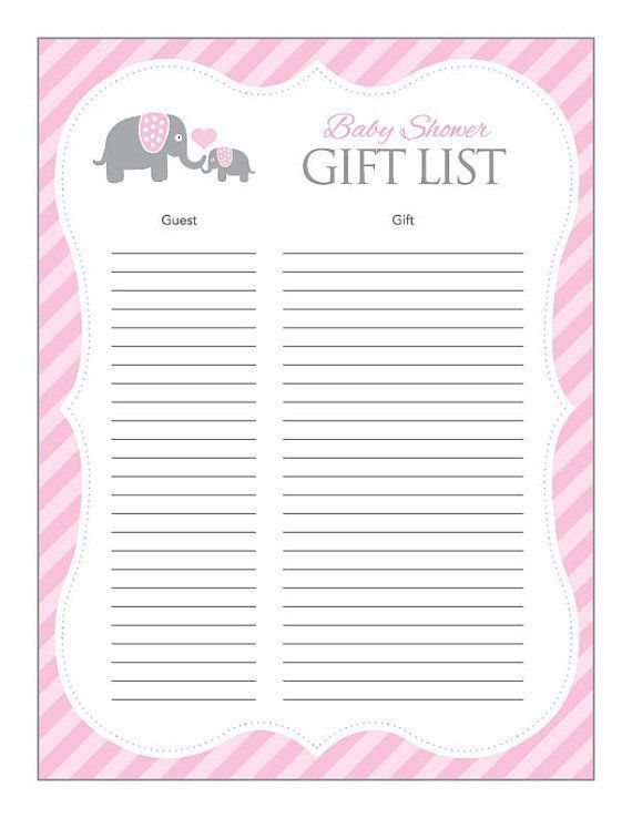 Baby Shower Checklists. Checklist For Baby Shower Supplies Sample ...