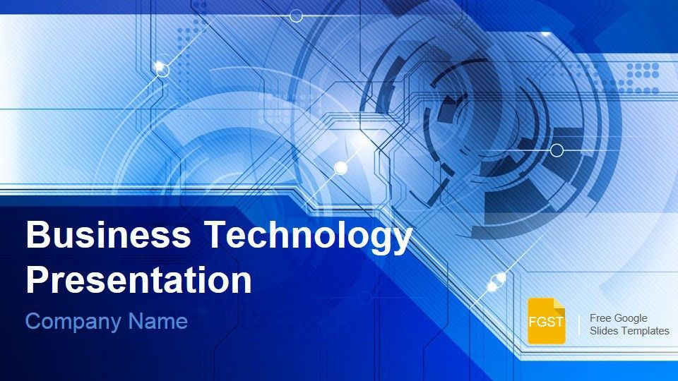 Blue Technology Business Presentation - Free Google Slides