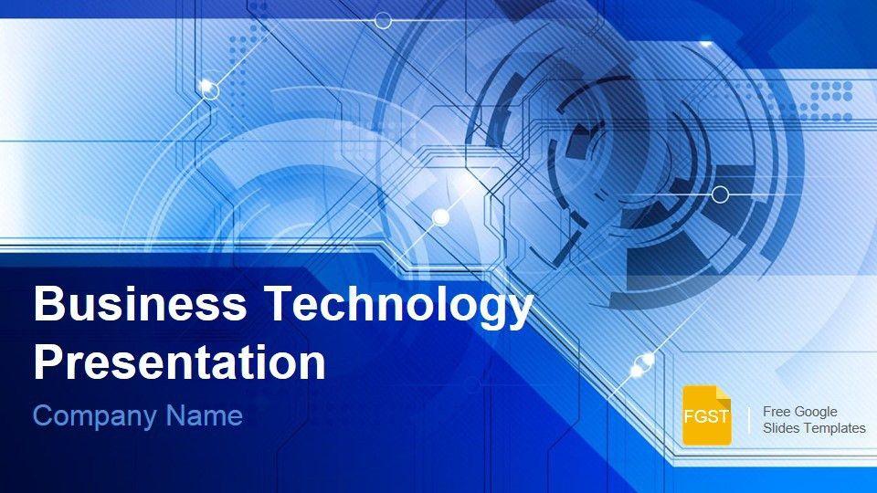 Blue Technology Business Presentation - Free Google Slides