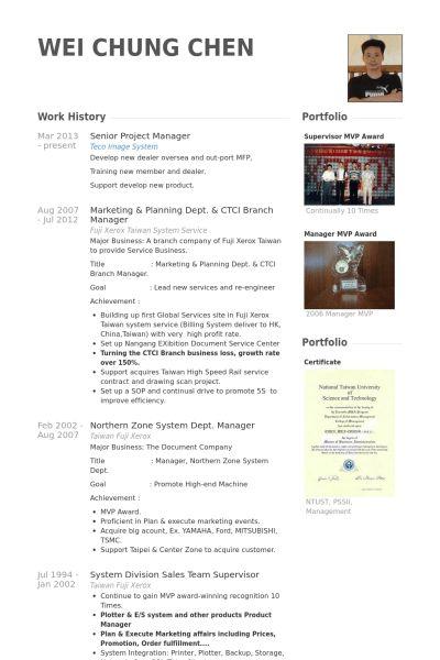 Senior Project Manager Resume samples - VisualCV resume samples ...