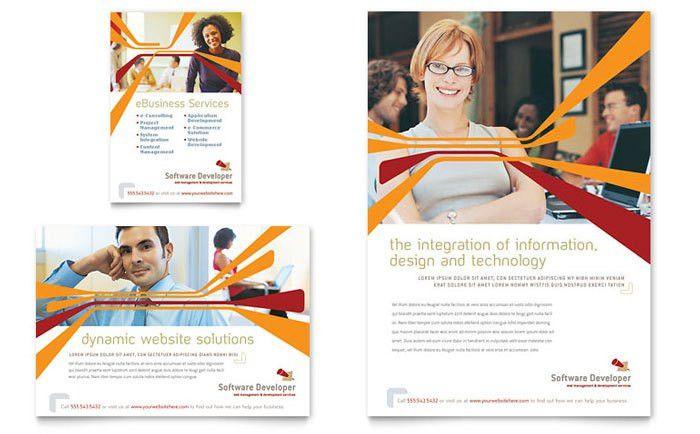 Software Developer Flyer & Ad Template Design
