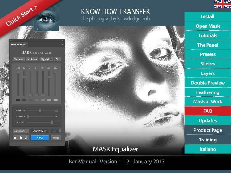 Mask Equalizer Training Page - Know-How Transfer Training Experience