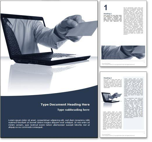 Royalty Free Online Business Microsoft Word Template In Blue