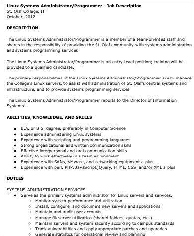 Programmer Job Description Sample   12+ Examples In Word, PDF