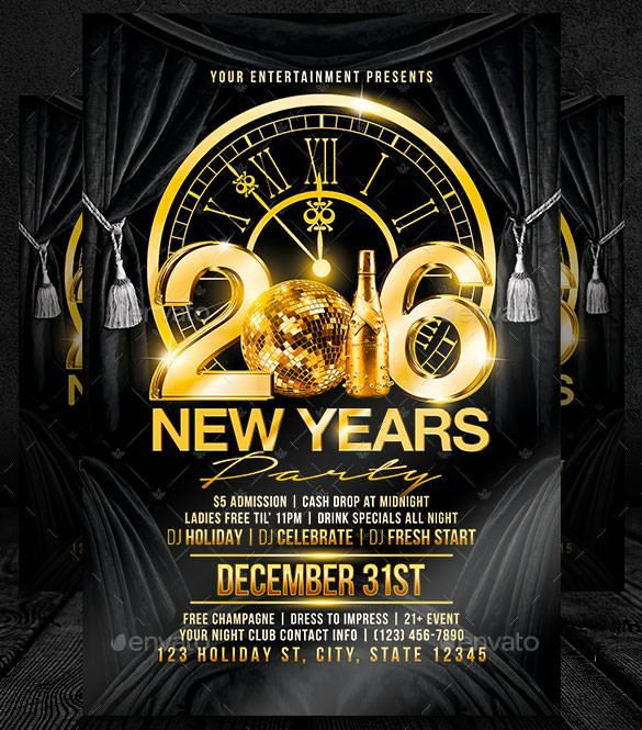 25+ New Year Flyer Templates 2016 – Free PSD, EPS, Indesign, Word ...