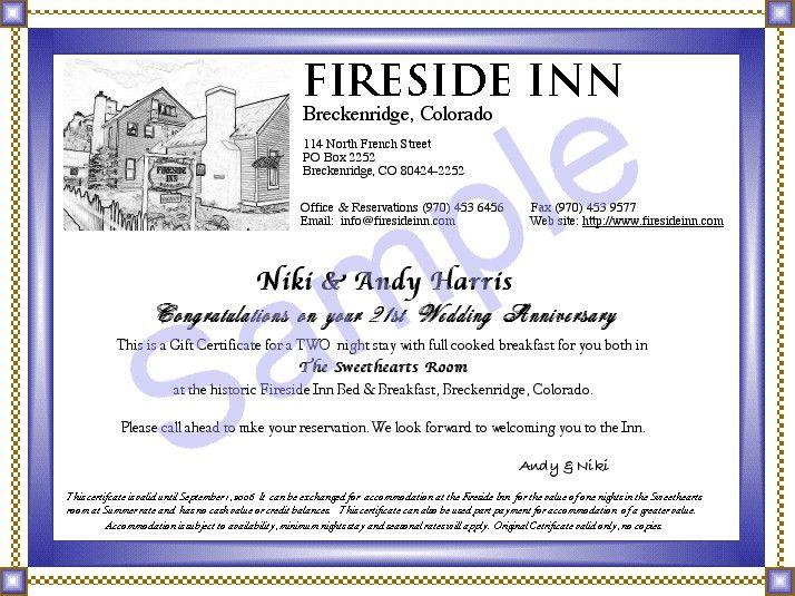 Fireside Inn Bed & Breakfast and Hostel in Historic Breckenridge ...
