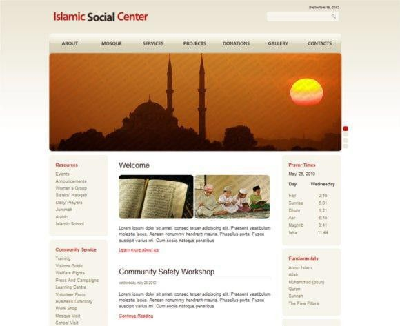 Islamic Website Design Templates