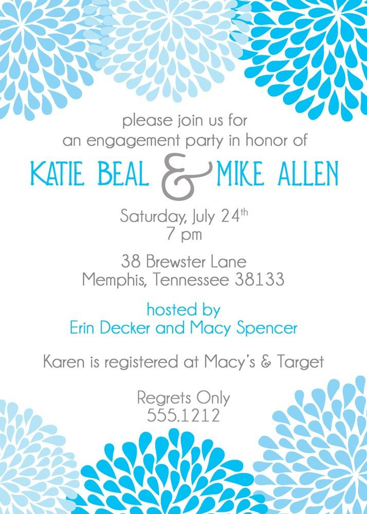 card template : Engagement Party Invitation - Card Invitation ...