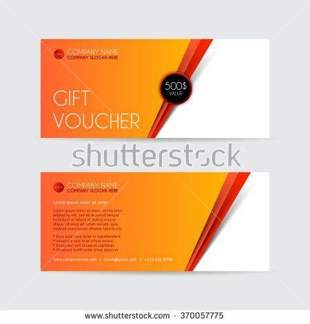 Orange Gift Voucher Template Vector Illustration Stock Vector ...