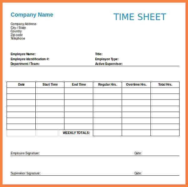 7+ payroll timesheet template | Securitas Paystub