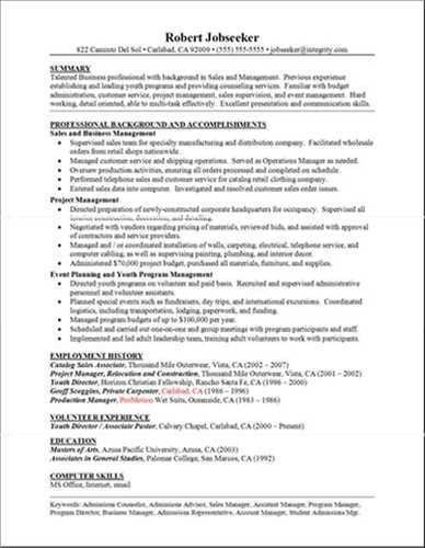 Homey Ideas Good Resumes 14 Examples Of Resumes Example Good ...
