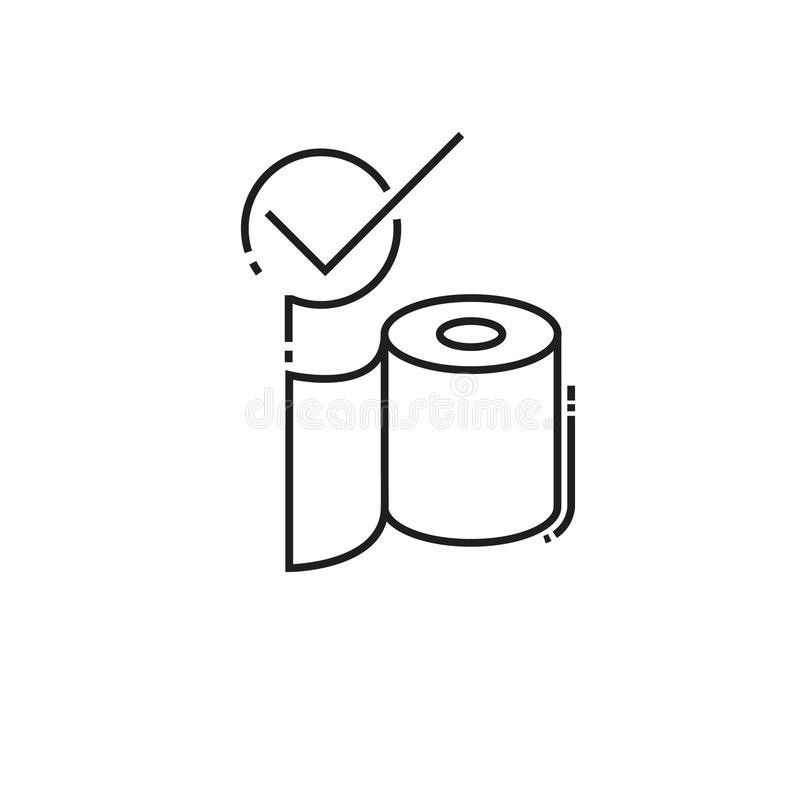 Roll Of Toilet Paper Icon Stock Vector - Image: 79532555