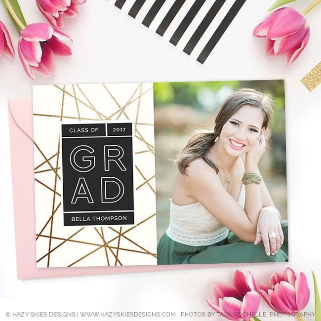 High School Graduation Invitation Template for Photographers GD161 ...