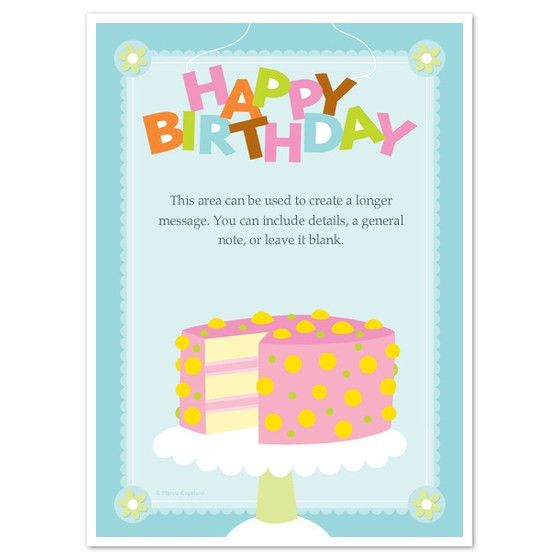 Happy Birthday Cake, Invitations & Cards on Pingg.com