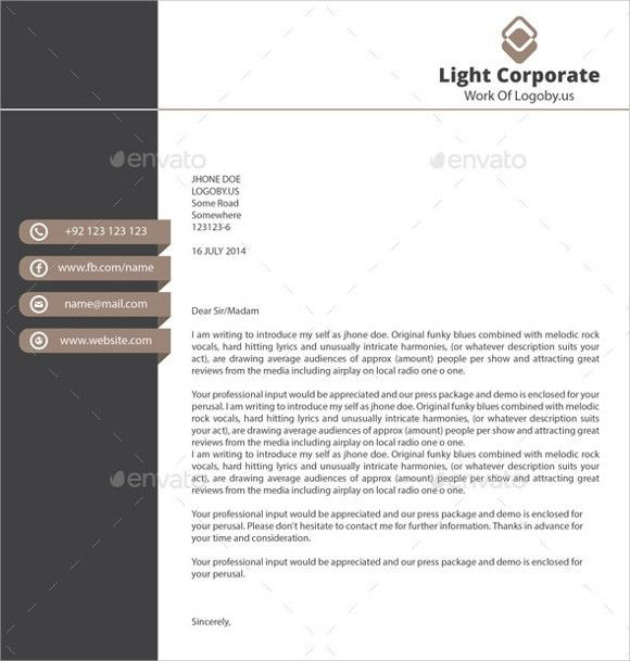 Sample Personal Letterhead Template - 9+ Premium and Free Download ...