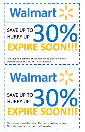 Walmart Discount Coupon Template – Coupon Templates